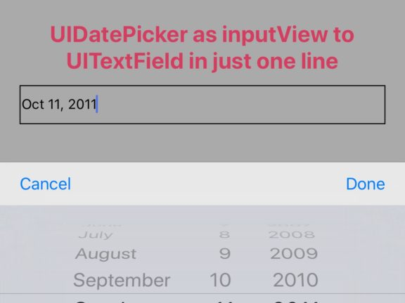 Uitextfield Datepicker Swift Archives Swift Development Center