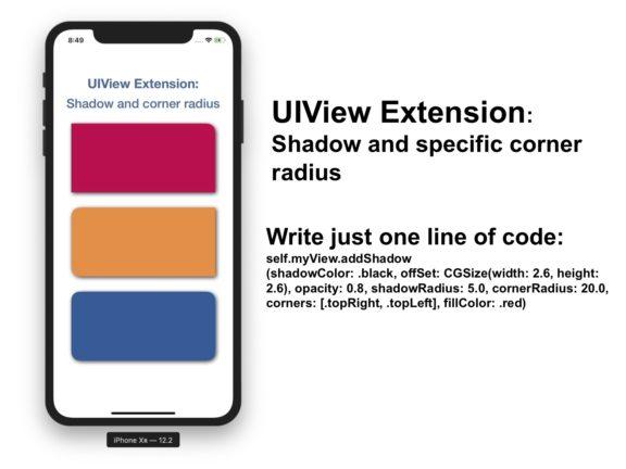 UIView shadow and specific corner radius Swift 5